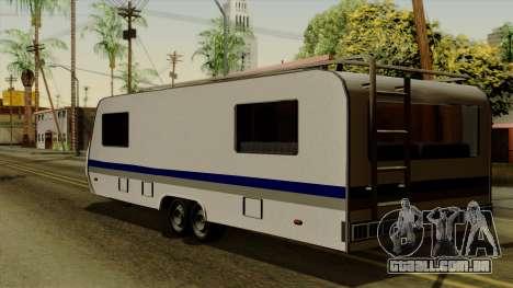 Camper Trailer para GTA San Andreas esquerda vista
