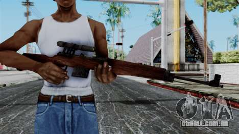 Gewehr 43 ZF from Battlefield 1942 para GTA San Andreas terceira tela