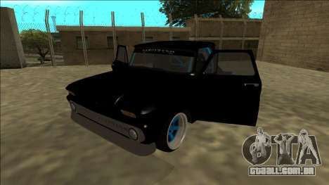 Chevrolet C10 Drift Monster Energy para GTA San Andreas vista traseira