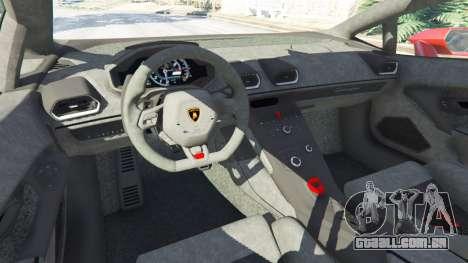 Lamborghini Huracan 2015 para GTA 5