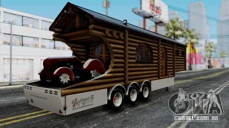 Scania Showtrailer Log Cabin para GTA San Andreas esquerda vista