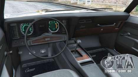 GTA 5 Chevrolet Camaro SS 350 1969 traseira direita vista lateral