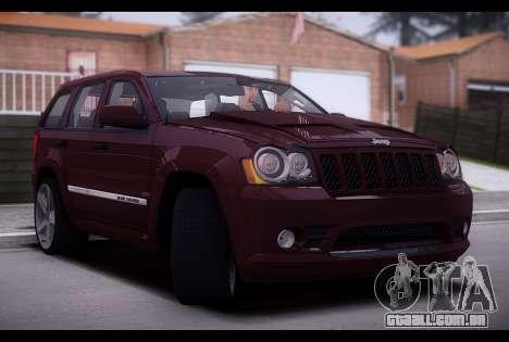 Jeep Grand Cherokee SRT8 2008 para GTA San Andreas traseira esquerda vista
