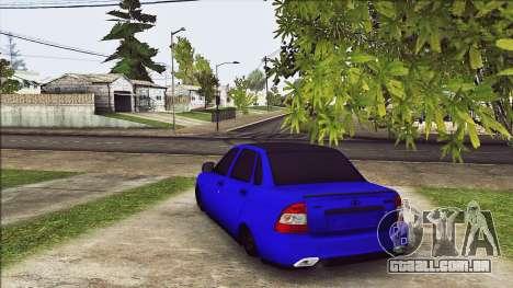 VAZ 2170 Vip Estilo para GTA San Andreas traseira esquerda vista