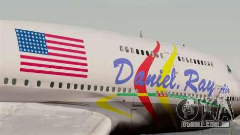 Boeing 747-400 Friendship Tag para GTA San Andreas vista traseira