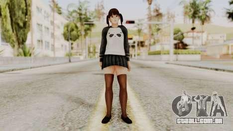 DOA 5 LeiFang Panda T-shirt para GTA San Andreas segunda tela
