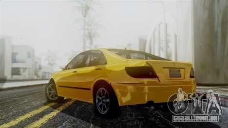 GTA 5 Karin Asterope para GTA San Andreas esquerda vista