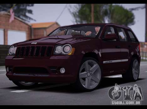 Jeep Grand Cherokee SRT8 2008 para GTA San Andreas esquerda vista