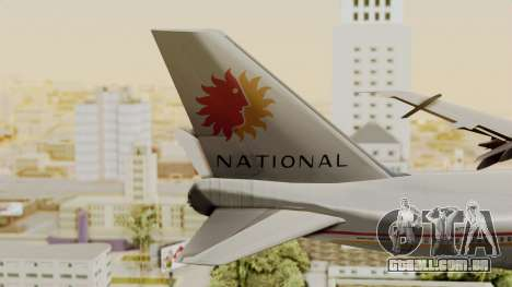 Boeing 747-100 National Airlines para GTA San Andreas traseira esquerda vista