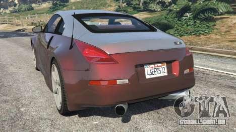 GTA 5 Nissan 350Z traseira vista lateral esquerda