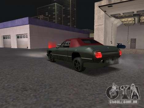 New Stallion para GTA San Andreas traseira esquerda vista