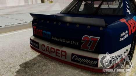 Chevrolet Lumina NASCAR 1992 para GTA San Andreas vista traseira