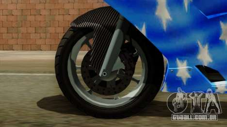 Bati America Motorcycle para GTA San Andreas traseira esquerda vista