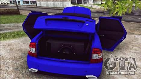 VAZ 2170 Vip Estilo para GTA San Andreas vista traseira