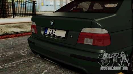 BMW 530D E39 1999 Mtech para GTA San Andreas vista traseira
