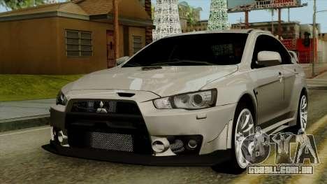 Mitsubishi Lancer Evolution X FQ400 Pro para GTA San Andreas