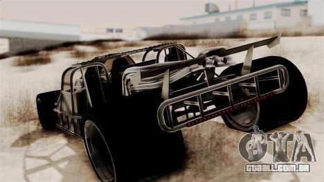 Camo Flip Car para GTA San Andreas esquerda vista