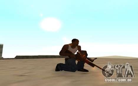 Nitro Weapon Pack para GTA San Andreas por diante tela