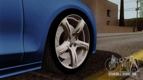 Audi A7 Sportback 2009 para GTA San Andreas traseira esquerda vista