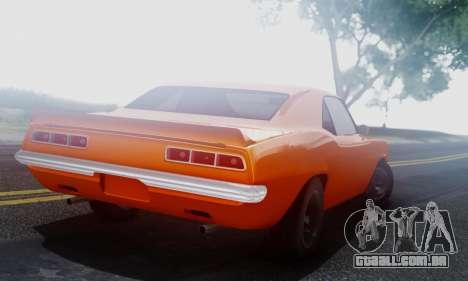 Chevy Camaro 69 para GTA San Andreas vista direita