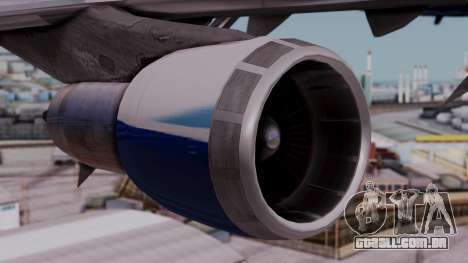 Boeing 747-400 Dreamliner Livery para GTA San Andreas vista direita