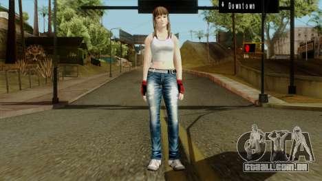Dead Or Alive 5 Hitomi 1st Cos para GTA San Andreas segunda tela