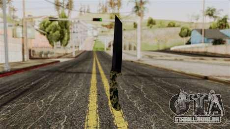 Nova faca de camo para GTA San Andreas segunda tela