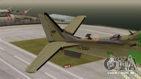 EMB-314 Super Tucano Factory USA para GTA San Andreas traseira esquerda vista