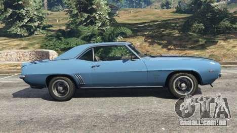 GTA 5 Chevrolet Camaro SS 350 1969 vista lateral esquerda