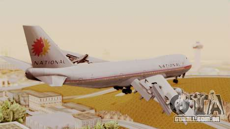 Boeing 747-100 National Airlines para GTA San Andreas esquerda vista