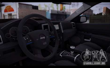 Jeep Grand Cherokee SRT8 2008 para GTA San Andreas vista traseira