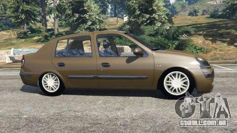 GTA 5 Renault Symbol 1.4L vista lateral esquerda