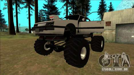 Willard Monster para GTA San Andreas vista inferior