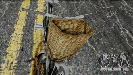 Olad Bike from Bully para GTA San Andreas traseira esquerda vista