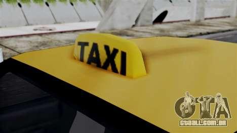 Taxi Casual v1.0 para GTA San Andreas traseira esquerda vista