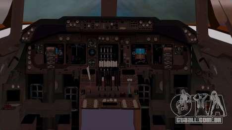 Boeing 747-400 Dreamliner Livery para GTA San Andreas vista traseira