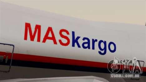 Boeing 747 MasKargo para GTA San Andreas vista traseira
