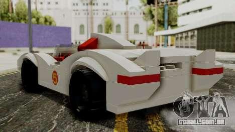 Lego Mach 5 para GTA San Andreas esquerda vista