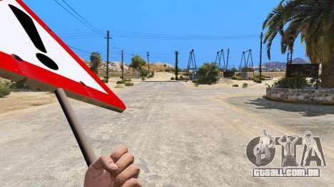 GTA 5 Sinal de estrada terceiro screenshot