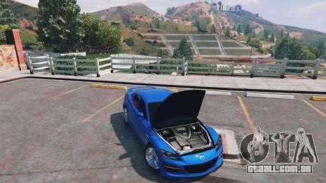 GTA 5 Mazda RX-8 R3 v0.1 traseira direita vista lateral