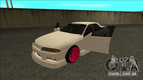 Nissan Skyline R32 Sedan Monster Energy Drift para GTA San Andreas traseira esquerda vista