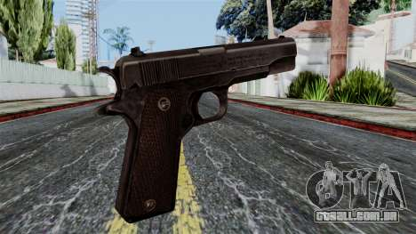 Colt M1911 from Battlefield 1942 para GTA San Andreas segunda tela