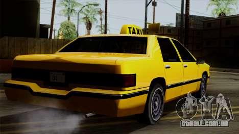 Elegant Taxi para GTA San Andreas esquerda vista