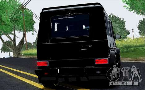 Mercedes Benz G65 Black Star Edition para GTA San Andreas vista traseira