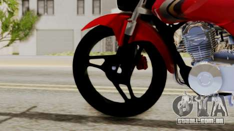 Yamaha YBR Imitacion para GTA San Andreas traseira esquerda vista