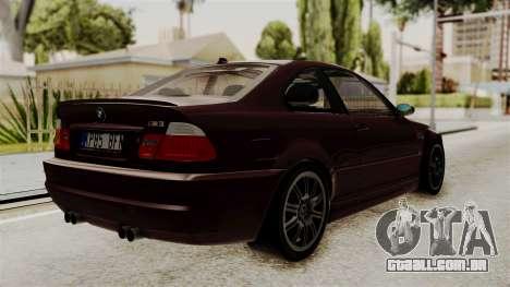 BMW M3 E46 2005 Stock para GTA San Andreas esquerda vista