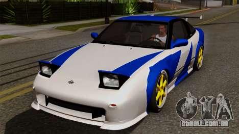 Nissan 180SX Street Golden Rims para GTA San Andreas vista inferior