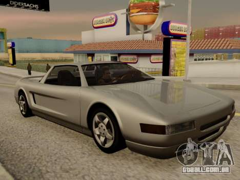 Infernus PFR v1.0 final para GTA San Andreas vista interior