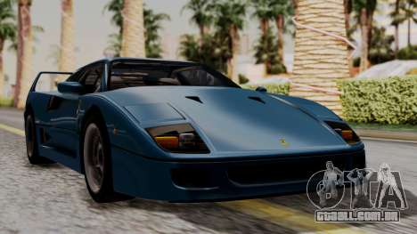 Ferrari F40 1987 with Up without Bonnet HQLM para GTA San Andreas