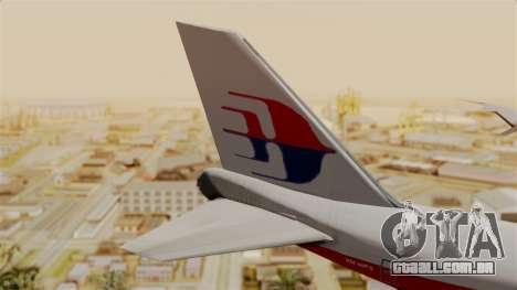 Boeing 747 MasKargo para GTA San Andreas traseira esquerda vista